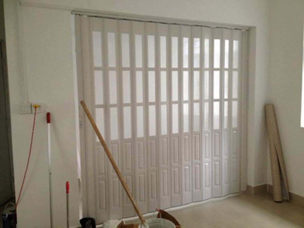Custom Accordion Folding Doors Interior With Hard - Joint Connection nhà cung cấp